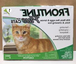 New Frontline Plus For Cats & Kittens kill Fleas & Tick 1 Mo