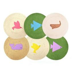 Colorful Cartoon Natural Sisal Playground Cat Scratch Board