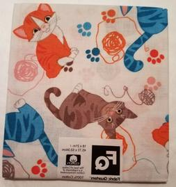 """Fabric Quarters Novelty Cats 18"""" x 21"""" 100% Cotton New"""