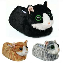 Novelty Fuzzy Animal Winter Cat Indoor Slippers for Women an