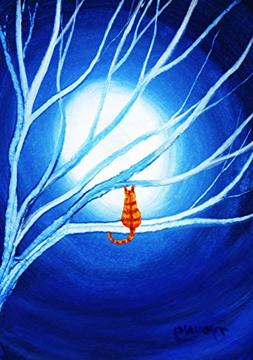 Orange Tabby Bengal Cat Folk art PRINT by Todd Young SPIRIT