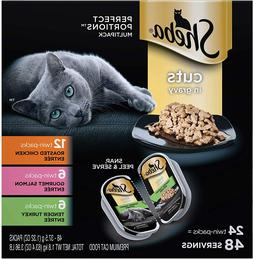 Sheba Perfect Portions Cuts in Gravy Wet Cat Food Tray Varie