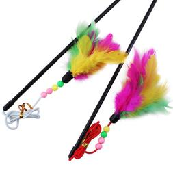 pet cat toy cute bird colorful feather