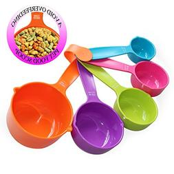 RYPET Pet Food Scoop Set of 5 - Measuring Cups Spoons Set Pl