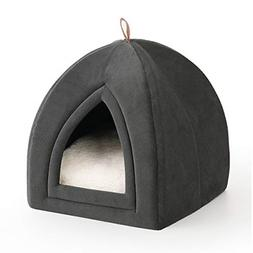 Pet Tent Cave Bed for Cats Small Dogs 2-in-1 Winter Kitten H