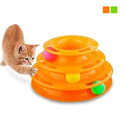 Gimilife Pet Three Levers Tower of Tracks Interactive Cat To