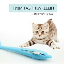 pets cat fish shape toothbrush silicone molar