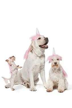 Pink Unicorn Costume For Dogs Pups Mane & Horn Headdress Wig