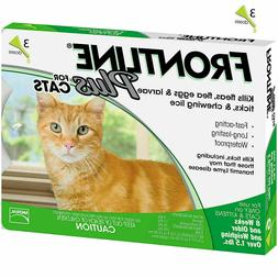 Frontline Plus for Cats 3 Doses / 3 Month,Supply Cat Flea &