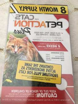 PetAction Plus for Cats and Kittens 8 doses -Ticks, Lice, Mi
