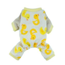 Puppy Pajamas 100% Cotton Yellow Ducks for Yorkie, Chihuaua