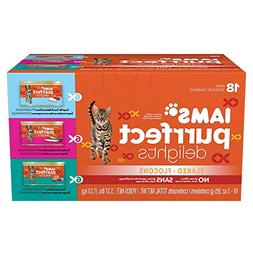 Iams Purrfect Delights Flaked Adult Wet Cat Food, Variety Pa