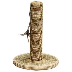 Seagrass post scratcher w/teasing toy - PetPals  Seagrass Po