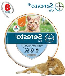 Bayer Seresto Flea and Tick Collar for Cats 8 Month Cover wi