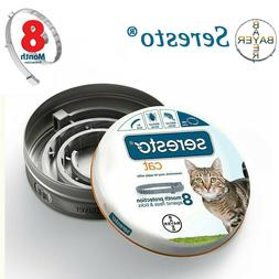 Bayer Seresto Flea and Tick Collar for Cats 8 Month Protecti
