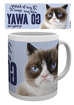 Set: Cats, Grumpy Cat, Go Away Photo Coffee Mug  And 1x 1art