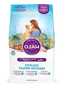 Halo Natural Dry Cat Food, Sensitive Stomach Seafood Medley,