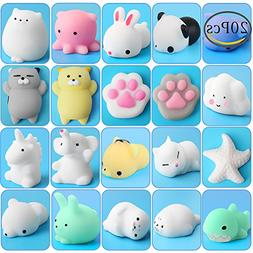 Squishy Animal Toys Stress, Outee 20 Pcs Mochi Squishy Stres