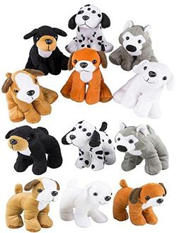 4E's Novelty Stuffed Plush Soft Dogs Animals Puppies Bulk Pa