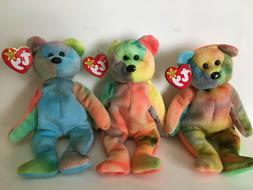 TY Beanie Baby - GARCIA the Ty-dyed Bear
