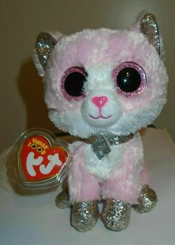 """Ty Beanie Boos ~ AMAYA the Pink Cat 6""""  NEW ~ IN HAND"""