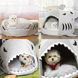 Unique Shark Mouth Bed forPet Dog Cat House Removable Dog Cu