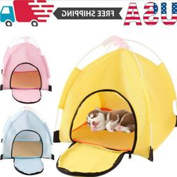 US Foldable Pet Tent Dog Cat House Outdoor Indoor Tent for C