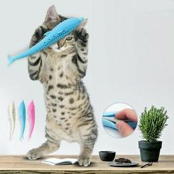 us pet cat fish shape toothbrush silicone