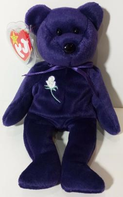 VERY RARE 1st EDITION PVC ~ PRINCESS  Bear 1997 Ty Beanie Ba