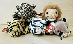 Vintage Beanie Babies BIG CATS!!! Lot of 5
