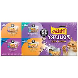 Purina Friskies Poultry Adult Wet Cat Food Variety Pack -  5