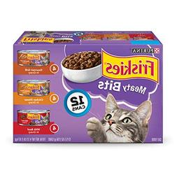 Purina Friskies Meaty Bits Adult Wet Cat Food Variety Pack -