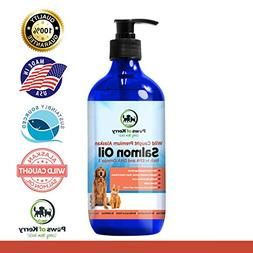 #1 Premium Wild Caught Alaskan Salmon Oil for Dogs & Cats. O