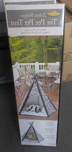 Pet Store Zebra Stripes Tee Pee Pet Tent New For Cats or Dog