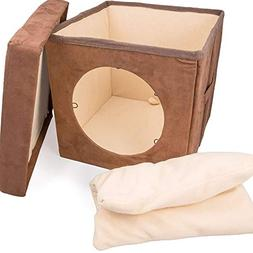 Original Ziggy DEN Cat Bed - Warm Kitten Bed Cat Hut with Pe